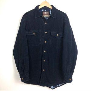 Levi's Navy Corduroy Fleece Lined Jacket